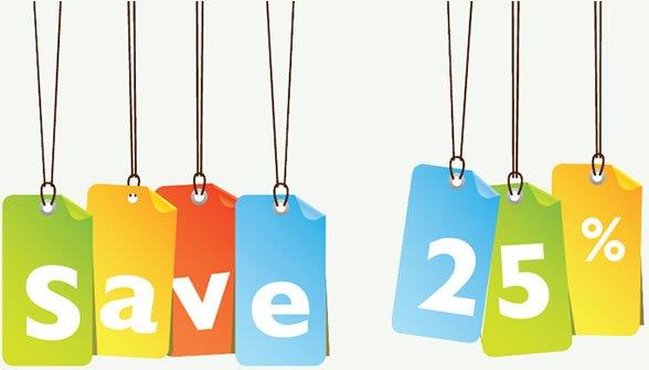save 25% coupon